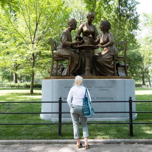 Photo Story: Monument to Women's Right Pioneers Statue unveiled in New York