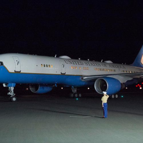 Aircraft carrying Vice President Pence makes emergency landing