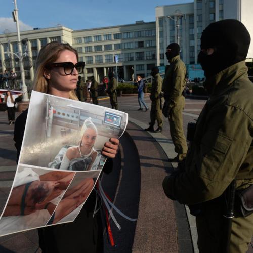 Concern in Belarus as masked men arrest protesting students