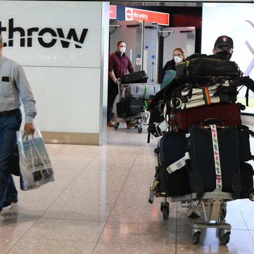 Heathrow Airport passenger numbers fall 81.5% in August