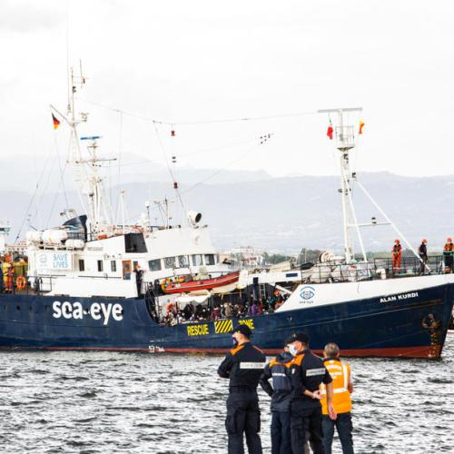 Photo Story: Alan Kurdi rescue ship docks in Sardinia