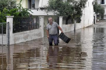 Two dead as destructive storm hits central Greece