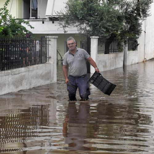 Two dead as destructive storm hits central Greece