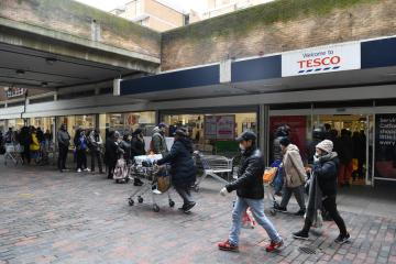 Tesco blocks bulk-buying of key items in the UK after new COVID curbs