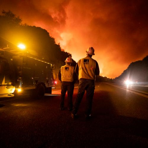 Half a million people flee dozens of wildfires in the U.S.