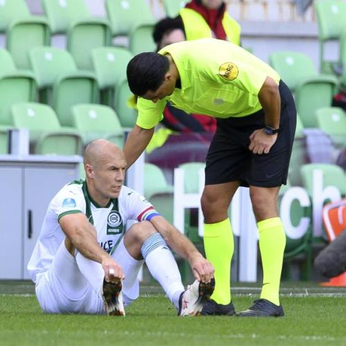Arjen Robben's return marred by injury
