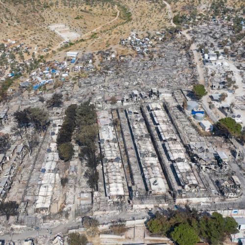 Five migrants arrested over Moria Greek camp fire