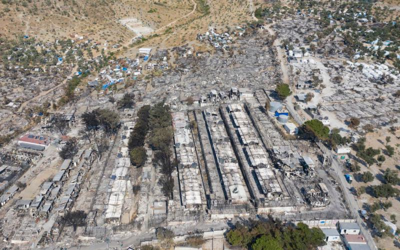 Five migrants arrested over Moria Greek camp fire