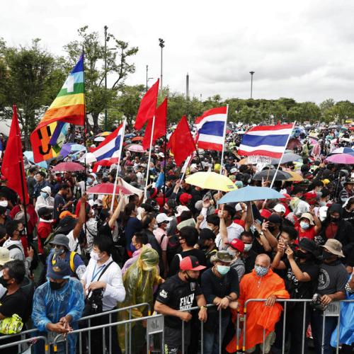 Thai protesters rally for big anti-government demonstration