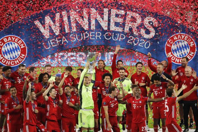 Bayern Munich beat Sevilla after extra time to win UEFA Super Cup