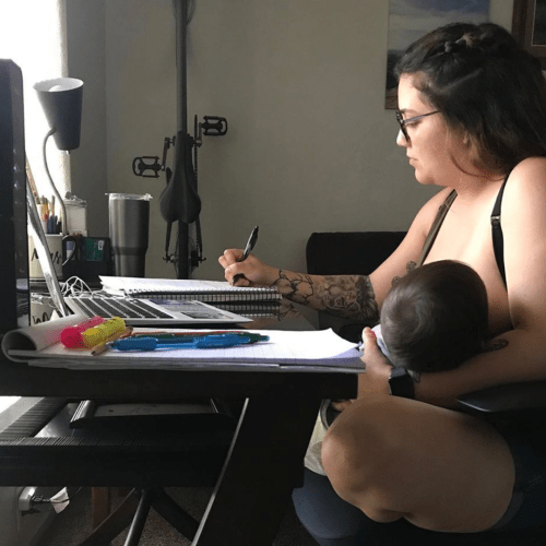 """Do it in your free time"" – College professor tells student no breastfeeding during online lessons"
