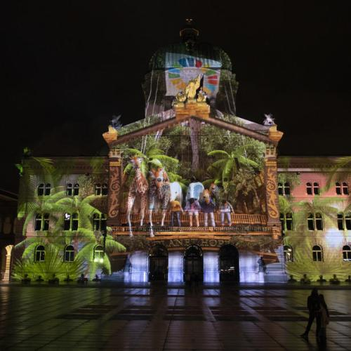 Photo Story: The light spectacle 'Rendez-vous Bundesplatz' in Bern