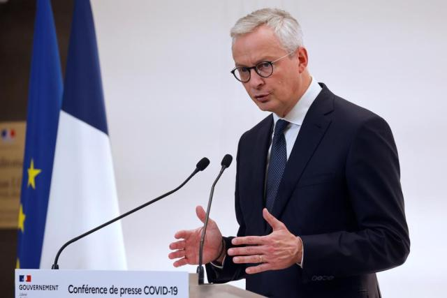 French economy now seen contracting by 11% in 2020 -Le Maire