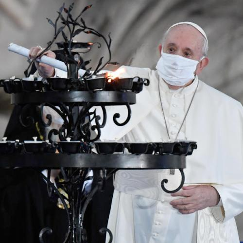 Pope Francis says anti-maskers incapable of moving outside of their own little world of interests