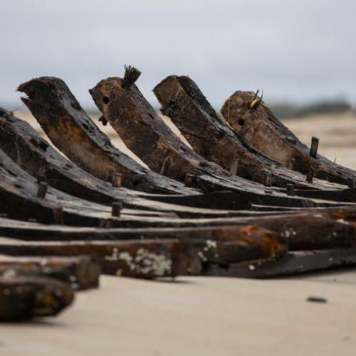 Photo Story: Wreckage of 145-year-old schooner exposed by shifting sands