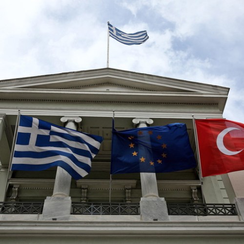 Turkish, Greek foreign ministers meet for first time since crisis