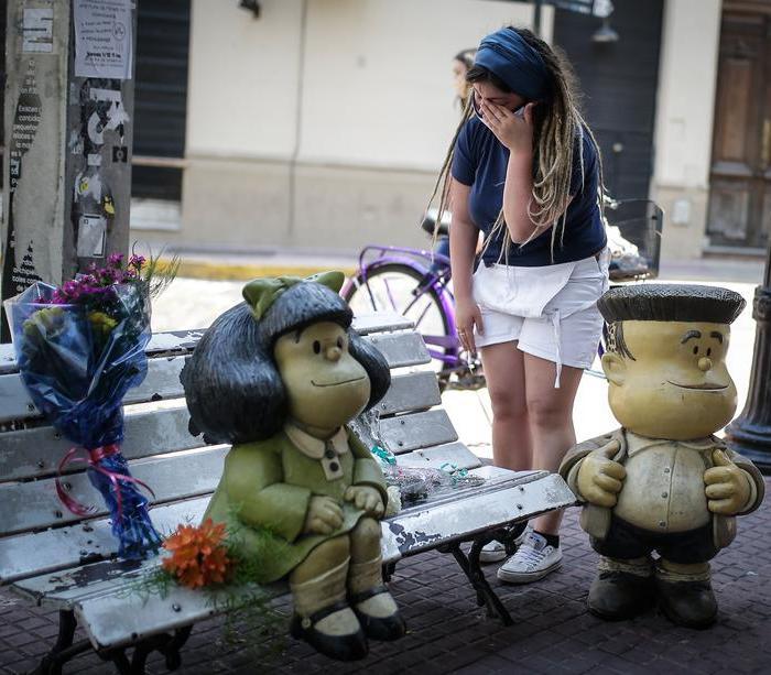 Photo Story: Argentina mourns legendary cartoonist Quino