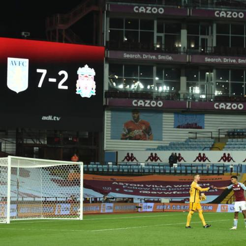 Premier League Liverpool humbled by Aston Villa 7 – 2