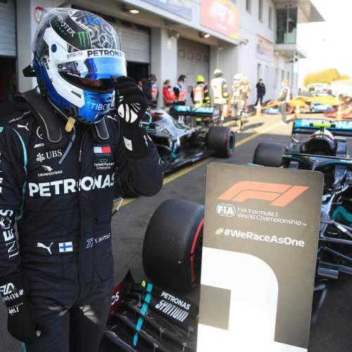 Mercedes Valtteri Bottas claims Nuerburgring pole position