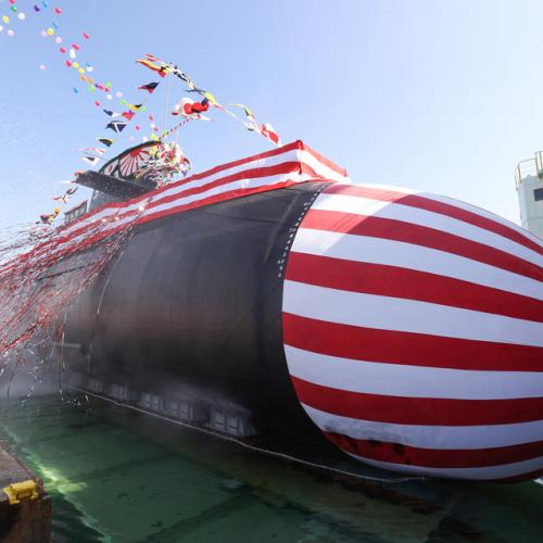 Photo Story: Japanese Maritime Self-Defense Force unveils new submarine