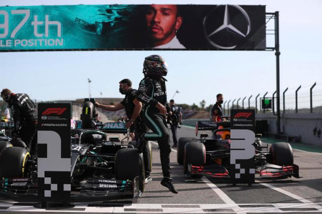 Hamilton on course for record win after Portuguese pole