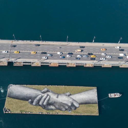 Photo Story: Saype's Beyond Walls Project landart in Istanbul