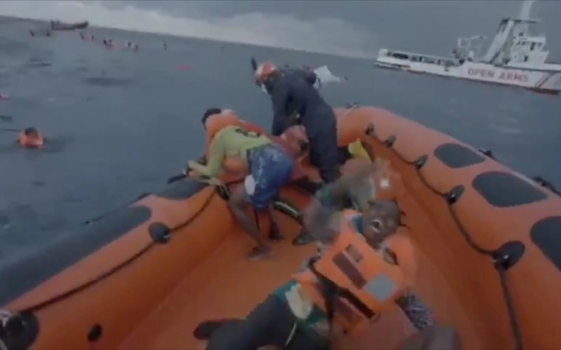 Heartbreaking footage of Joseph's mother screaming for lost baby as dinghy sinks