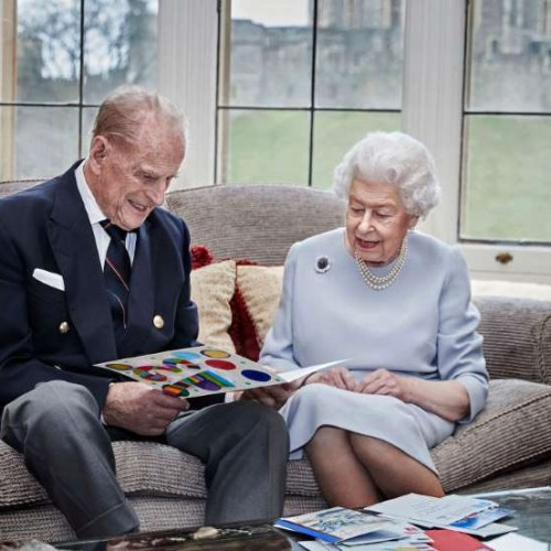 Queen and Prince Philip reveal card from grandchildren to mark 73 years of marriage