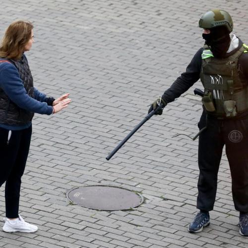 Belarus police arrest dozens in street protests on Sunday