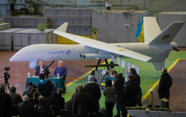 Risultato immagini per sokil-300 Unmanned Aerial Combat Vehicle (UAV)