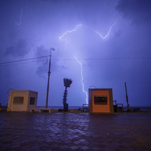 Photo Story: Stormy weather over Gaza City