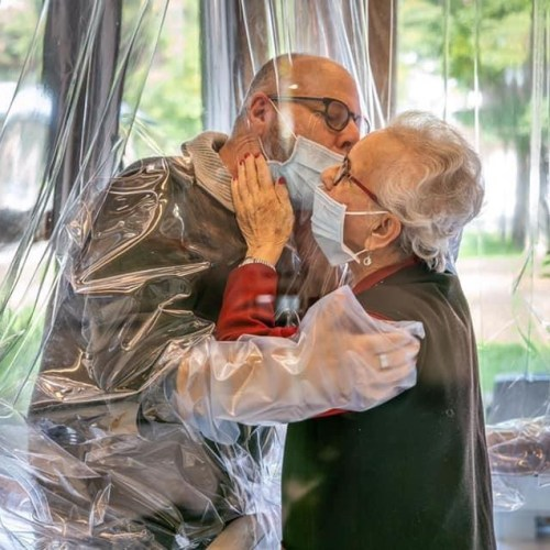 Treviso home offers residents the opportunity to hug their loved ones without borders