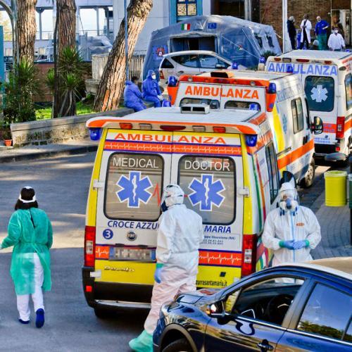 Photo Story: Hospital's Emergency state in Naples hospital