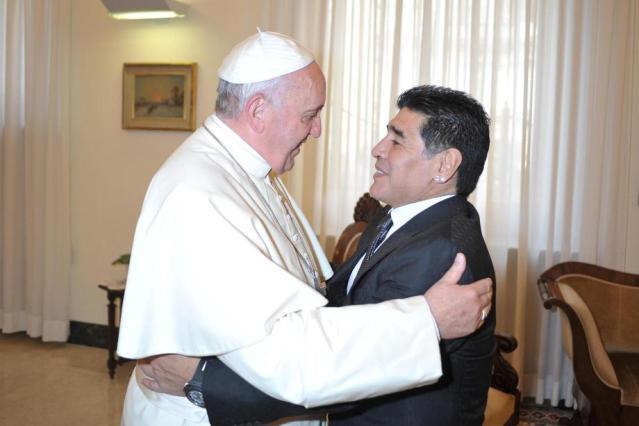 Pope calls Maradona a fragile poet