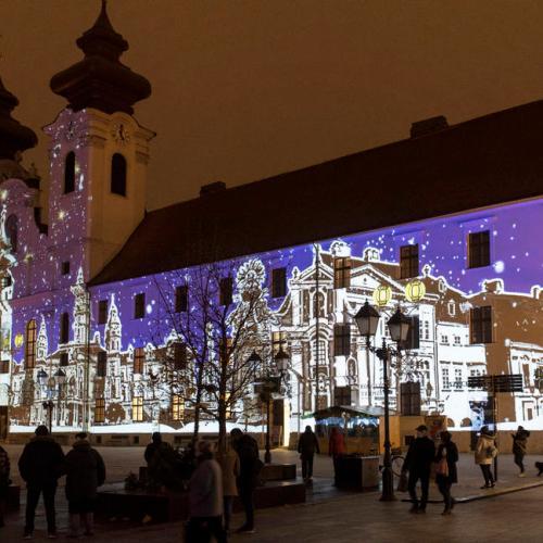 Photo Story: Christmas lights in Gyor, Hungary