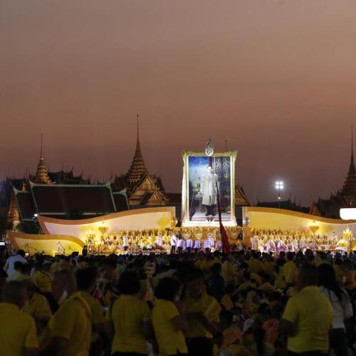 Thailand commemorates the late Thai King Bhumibol
