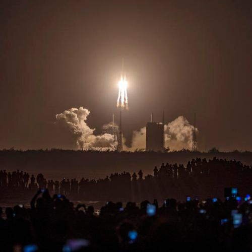 China moon probe begins journey back to Earth