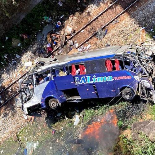 Photo Story: At least 16 dead after bus falls from a bridge in Brazil