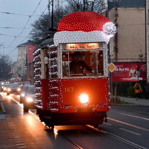 Photo Story: Christmas tram on the streets of Szczecin, Poland