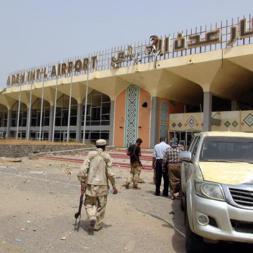 Blast, gunfire at Aden airport after plane carrying new government lands, 5 killed