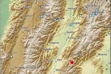 Earthquake shakes southern Colombia; no damage reported