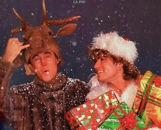 Wham!'s Last Christmas goes to number one in the UK for the first time