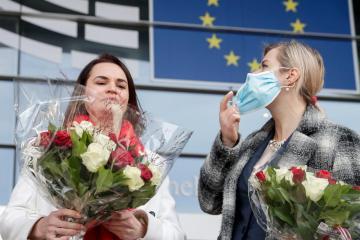Lithuanian president nominates Belarus opposition leader for Nobel prize – sources