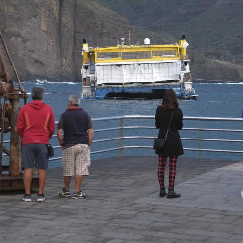 Photo Story: Ferry hits the rocks in Gran Canaria