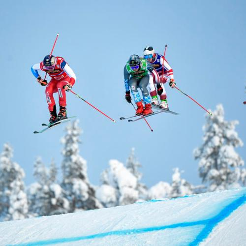 Photo Story: Men's Ski Cross final at the FIS Freestyle Ski World Cup, Sweden