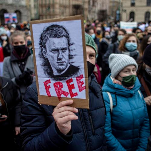 Photo Story: Protest in support of Russian opposition leader Alexei Navalny in Prague