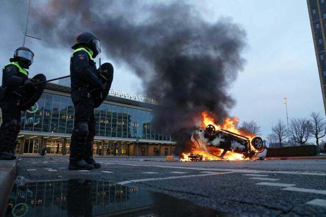 Photo Story: Dozens of arrests after riots in Eindhoven