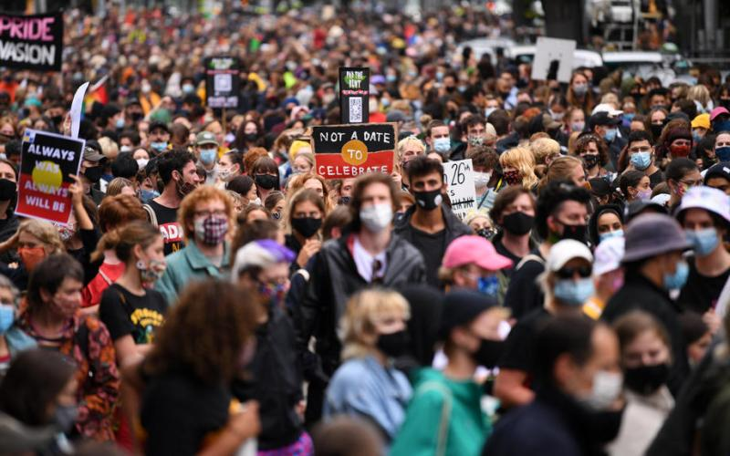 Photo Story: Invasion Day rally in Melbourne