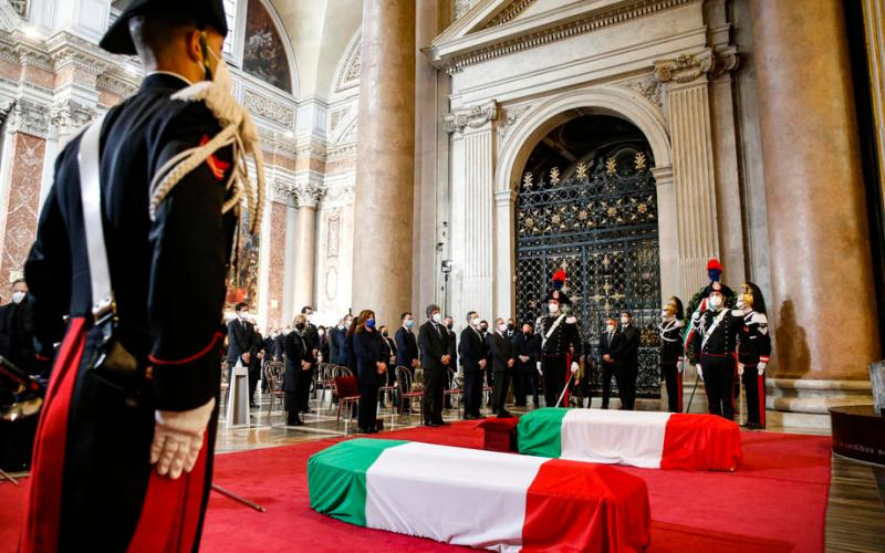 UPDATED: Italy holds State funeral for slain Ambassador and his security escort