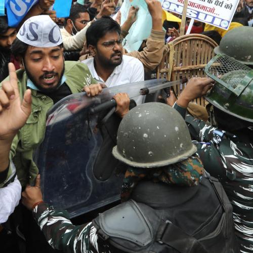 UN urges 'maximum restraint' as India farm protesters widen blockade